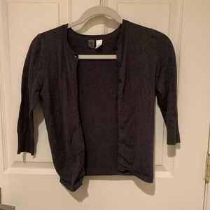 BP Grey cardigan, 3/4 length sleeve
